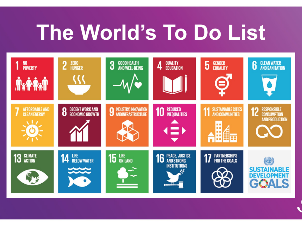 Sustainable Development Goals are The World's To Do List